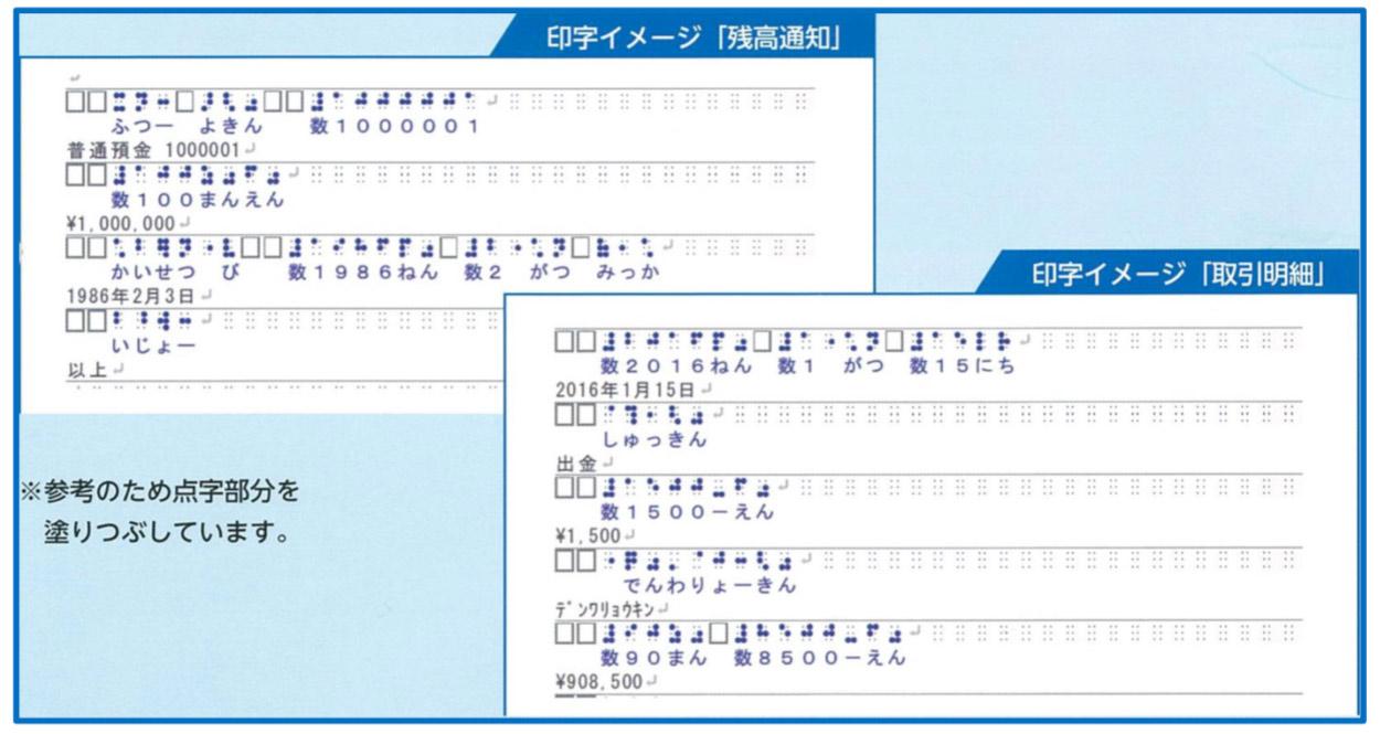 九州フィナンシャルグループ 点字明細