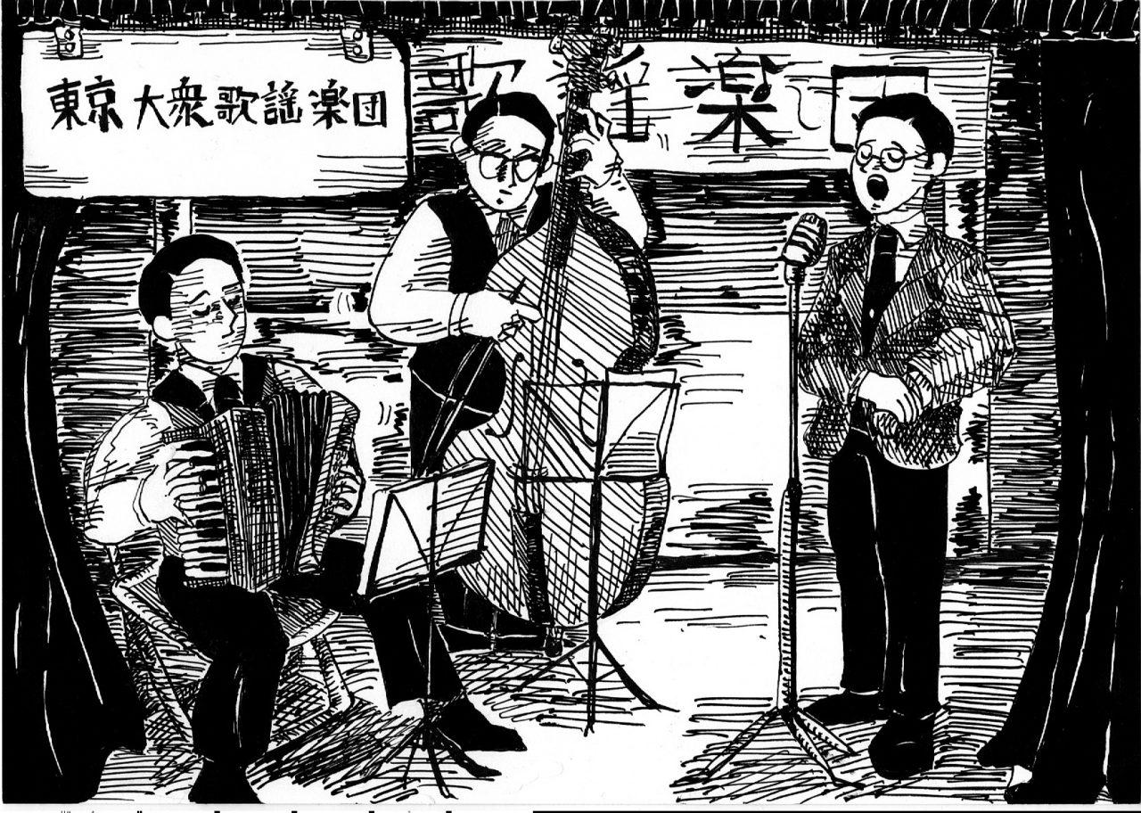 平成に昭和の香り、東京大衆歌謡楽団の鹿児島公演。