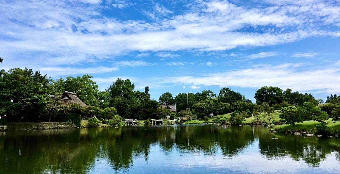 街のなかで味わう自然。水前寺成趣園で、タイムスリップじゃ!